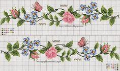 flores em ponto cruz - Buscar con Google