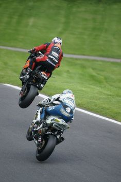 Tommy Hill & Josh Brookes at the Mountain Cadwell.