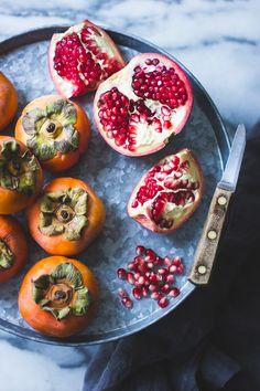 Persimmon + Pomegranate Salad with Burrata + Pistachio Dukkah – The Bojon Gourmet