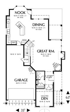 First Floor Plan image of Featured House Plan: BHG - 5152