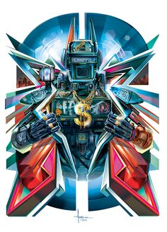 CHAPPIE: MAN OF STEEL- Vector Tribute by Orlando Arocena see art on Behance