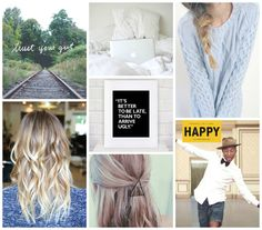 Help me! What should I do with my hair? Happy vibes and lots of (p)inspiration @ moodboard-thursday!