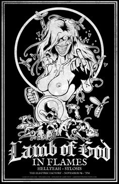 PESTILENCE - Lamb of God / In Flames - 2012 Poster