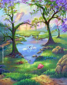 Jim Warren Seven Hearts Painting sale, painting Authorized official website