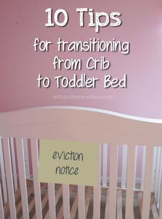 "Disclaimer: I'm no early childhood expert. I'm just a mom who found the following things worked for transitioning my kid from her crib to her toddler bed. Preparing for a second child brings new ""to-dos"" that the first didn't. And they're primarily for the first child. Like her multiple eviction notices – from both her … … Continue reading →"