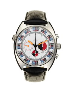 """Omega Stainless-Steel Seamaster, """"Soccer Time"""". Asking price: $4850"""
