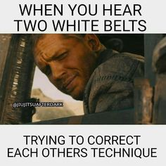 Haha! I can imagine higher belts think this all the time
