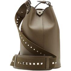 Valentino - Leather Rockstud Shoulder Bag found on Polyvore