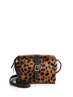 CLARE VIVIER - Haircalf Mini Sac Leopard Crossbody Bag - Saks.com