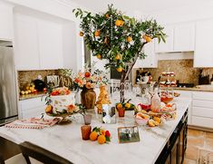 Bright Orange Citrus Bridal Shower with Boho Details - Inspired By This