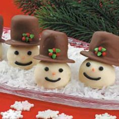 Coconut Snowman Recipe from Taste of Home -- shared by Donell Mayfield of Rio Rancho, Minnesota