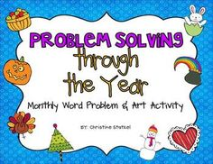 Monthly word problem and coordinating art activity