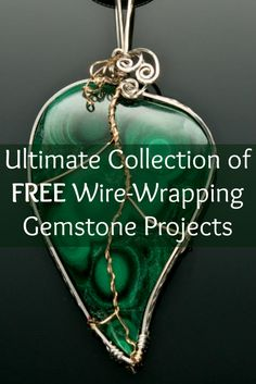 If you like wire wrapping, then you'll LOVE these 3 FREE gemstone wrapping projects! If Wire wrapping is a jewellery making skill you wish to learn then we have pinned lots of tutorials for you