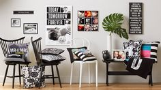 Black & white room designs with Shutterfly's Black & White Collection. Shutterfly's home decor ideas bring warmth to your favorite room. Shop now! White Room Decor, Living Room Decor, Black White Rooms, Black And White, Room With Plants, White Houses, Modern Decor, Shutterfly, Decorating Ideas