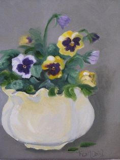 Pretty as a Pansy Original Oil Painting by SoliDeoGloriaSDG