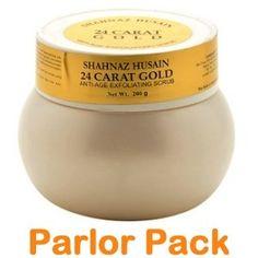Shahnaz Husain 24 Carat Gold Anti Age Exfoliating Scrub Salon Parlor Pack