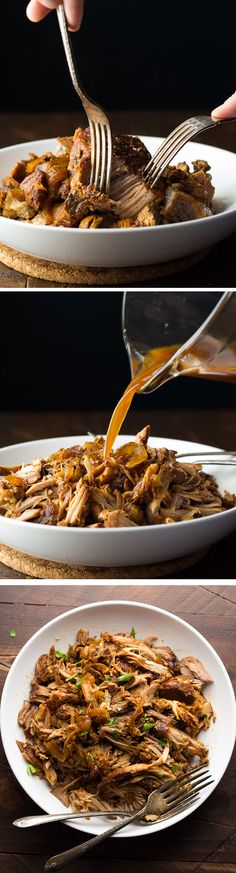 Slow Cooker Maple Pulled Pork - An easy weeknight dinner, plus three recipes to use your pulled pork.