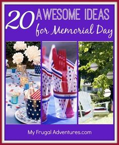 Easy, inexpensive and festive ideas for Memorial Day or the the 4th of July! | Let's Celebrate