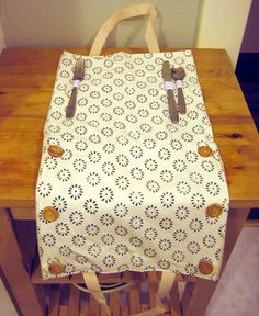 DIY Projects: Kate's Handy Lunch Bag...cute idea!