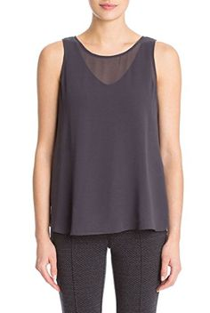 Nic  Zoe  Sheer Collection Top  Japanese Violet  L -- You can find more details by visiting the image link.