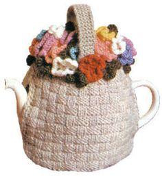 Flower Basket Tea Cozy Vintage Knitting Pattern for download