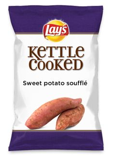 Wouldn't Sweet potato soufflé be yummy as a chip? Lay's Do Us A Flavor is back, and the search is on for the yummiest flavor idea. Create a flavor, choose a chip and you could win $1 million! https://www.dousaflavor.com See Rules.