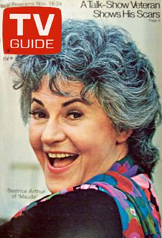 Maude: TV Guide Cover For November 1972 bea arthur