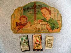 Image result for vintage needle books