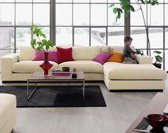 Sepia 2½ pers. sofa m. Sjeselong fra Bolia 18239 kr