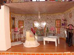 doll house with wood floors
