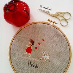 Heidi benim için en masum çizgi film karakteridir. Çok severim.❤ #elisi#elemegi#kanavice#etamin#embroidery#xstitch#xstitching#crossstitch#crochet#mavilmek#heidi#bodrum#anime (Bodrum, Muğla)