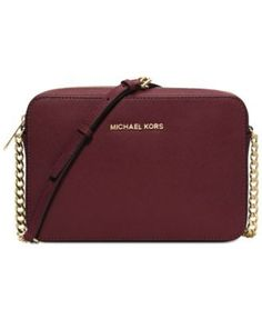 MICHAEL Michael Kors Jet Set Travel Large Crossbody in Merlot