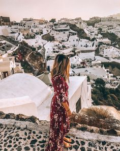 Watching the Sunset in Oia, Santorini, Greece, Greek Isles, Greek Islands | Travel & Style,, Adventure,, Outdoors, Greece Sunsets. Instagram Photograph by @finding.jules