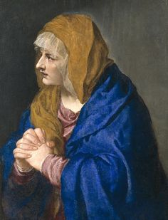 """""""Mater Dolorosa"""". (1554). # (by Ticiano). Museu do Prado. Madri, Espanha."""