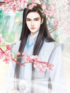 Boy Art, Art Girl, Male Cartoon Characters, Chinese Drawings, Jesus Art, Fairytale Art, China Art, Handsome Anime, Fairy Art