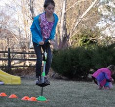 Obstacle Course:  Another great way to get kids outside and to help them start to LOVE playing outside. This page has many great suggestions for setting up an obstacle course but in truth, your imagination is your best resource. You do not need expensive equipment. Include the children in the set-up and they will have even more fun!