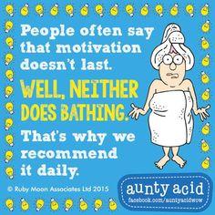 Daily pep is a must #AuntyAcidWOW