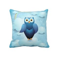 Owl in the sky #pillow by PinkHurricane #Zazzle store :)