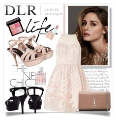 """""""DLR Contest"""" by fashionb-784 ❤ liked on Polyvore featuring Yves Saint Laurent, Beauty Secrets, Lipsy, Rimmel, Givenchy, Jimmy Choo and dlrboutique"""