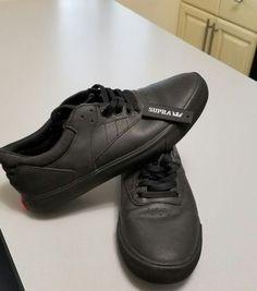 Supra Griffin SP25006-BKR Lil Wayne Spectre Black Leather Skate Shoe Medium Men