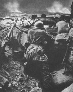 "ostfeldzug: "" Fallschirmjäger defensive position, Battle of Monte Cassino. March, 1944. """