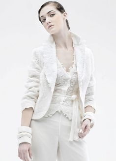 ladies wedding white pant suit - Google Search