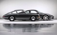 Beauty in front, power in the back (Porsche 911 through 50 years). Iconic design.
