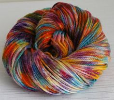 Hand Painted Yarn Hand Dyed Pure Wool 210 by FashionTouchSupplies, $17.99