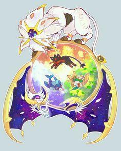Pokémon Sol y Luna, legendarios e iniciales.