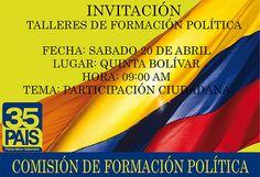 CONTINUACIÓN TALLER DE FORMACIÓN POLÍTICA