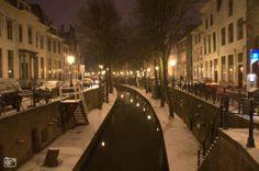 Nieuwegracht covered in snow