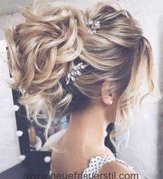 Messy Bun Lange Hochzeit Frisur | Frisuren | Pinterest | Lange ... | Frauen Haare |