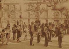 Diables de Vilafranca. la fotografia mes antiga del ball de diables, de Josep Maria Canyelles. 1890