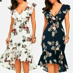 New skirt midi floral chic ideas Simple Dresses, Cute Dresses, Beautiful Dresses, Casual Dresses, Short Dresses, Summer Dresses, Cute Fashion, Skirt Fashion, Fashion Dresses
